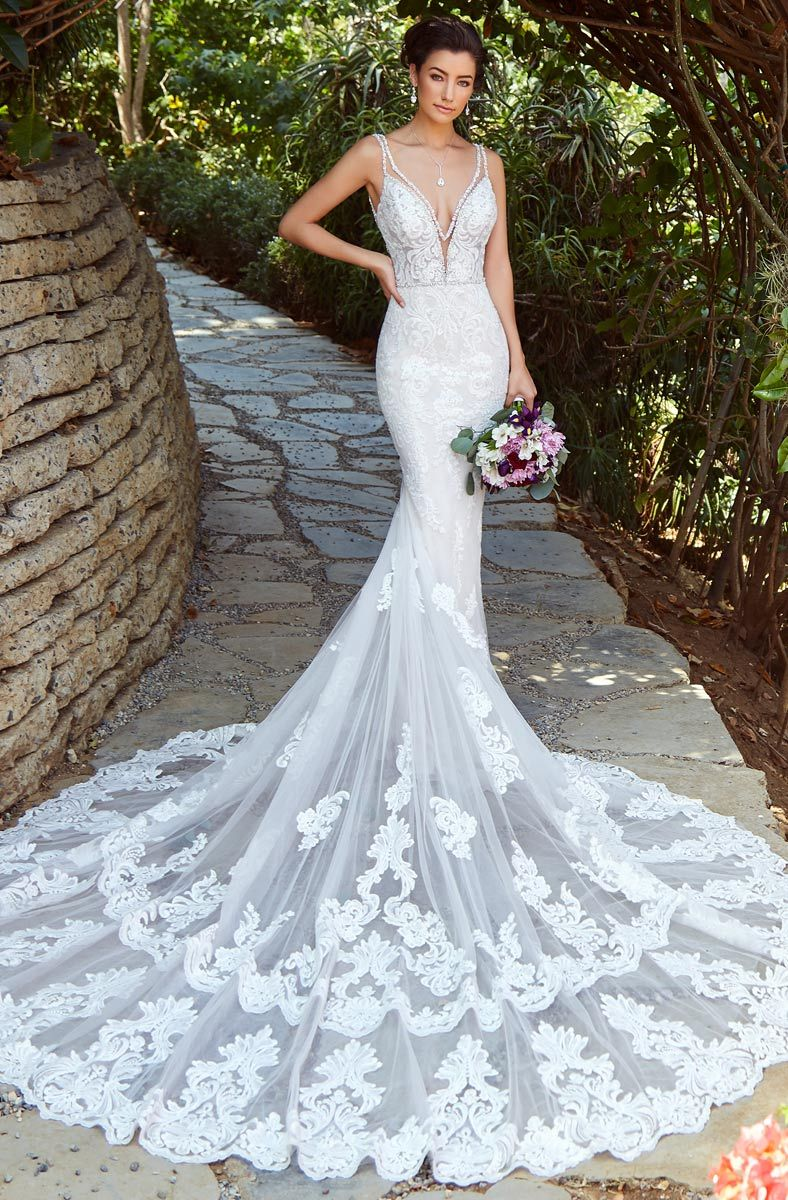 Kitty Chen Kyra Size 8 Fit And Flare Wedding Dress White Bridal Gown Backless Mermaid Wedding Dresses [ 1200 x 788 Pixel ]