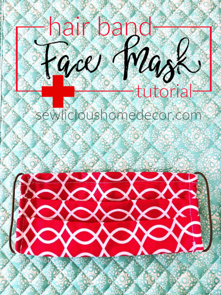 Face Masks with Hair Bands - SewLicious Home Decor