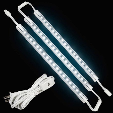Led Concepts Under Cabinet And Closet Linkable Led Light Bars Ultra Slim Cool Touch Design Great For Kitchen Counter Lighting 12 3pk White Walmart Com Bar Lighting Led Strip Lighting Led Concept