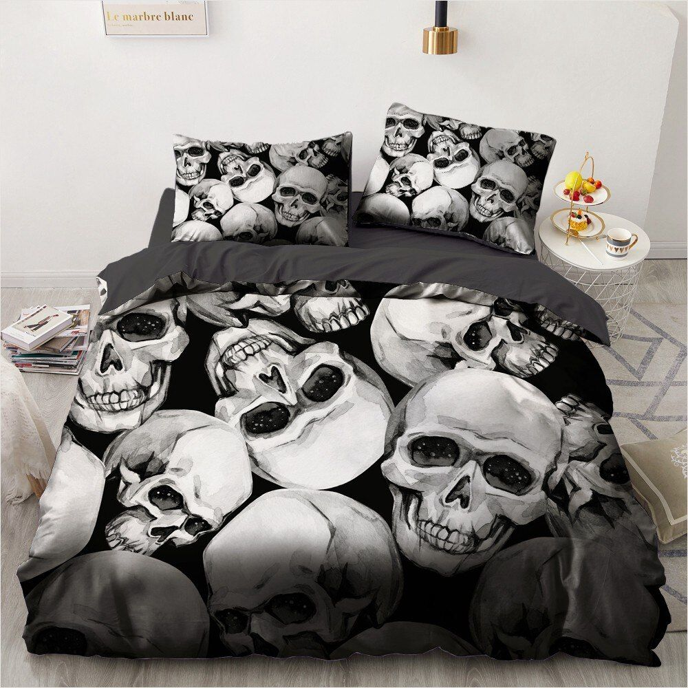 Photo of 3d skull themed bedding sets (18 varian)