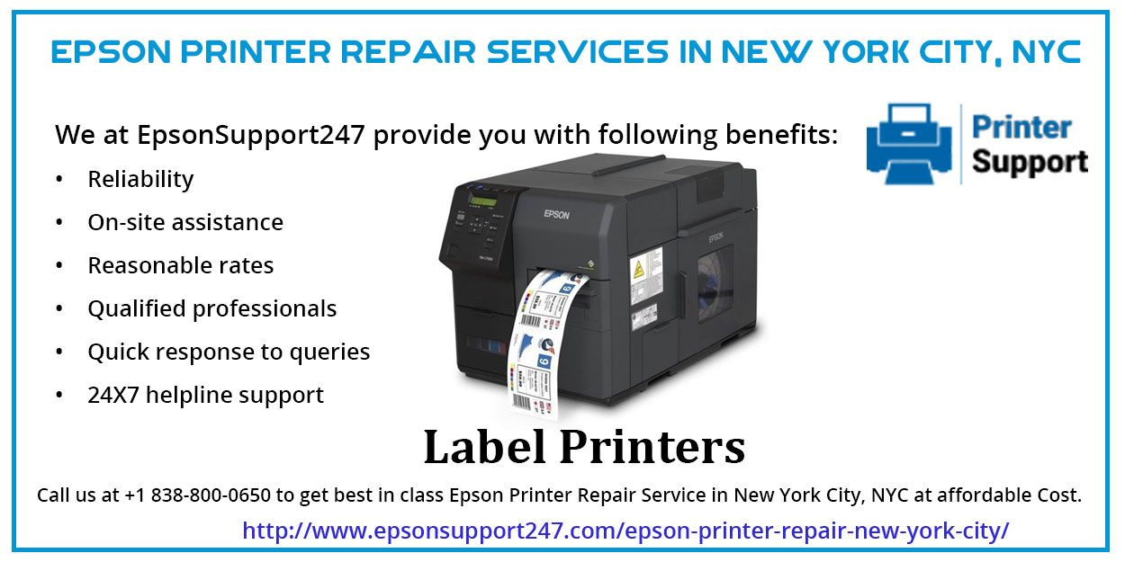 Get the high-quality Epson Printer repair center in New York
