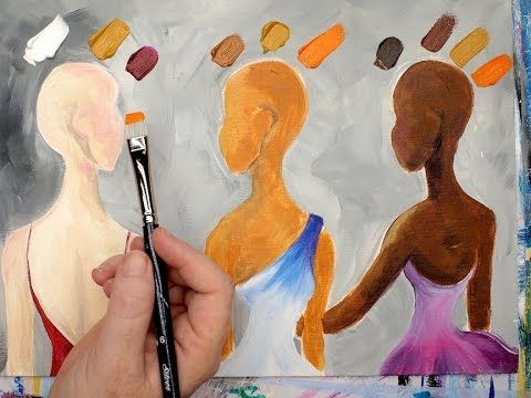Learn how to mix 3 skin colors in acrylic paint this for How to learn to paint with acrylics