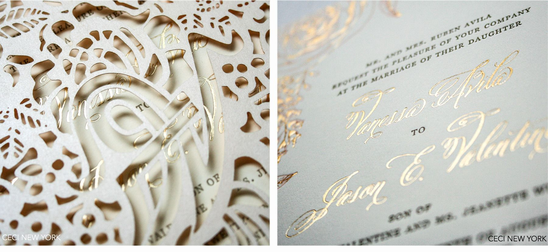 Los Angeles Wedding Invitations: Luxury Wedding Invitations By Ceci New York