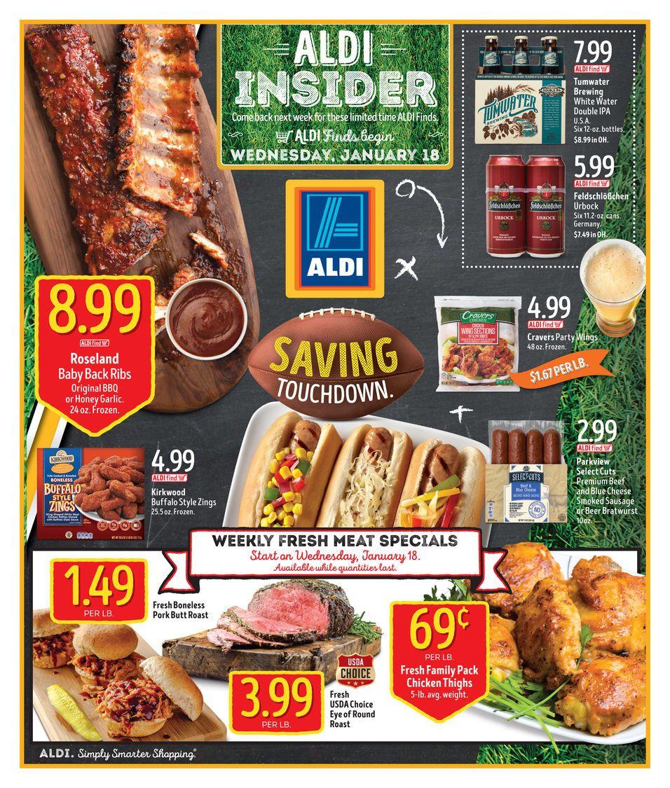 ALDI USA In Store Ad Circular January 18 - 24 United States #Grocery #Aldi