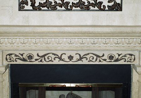 Renaissance Scroll And Showcase Molding On Fireplace