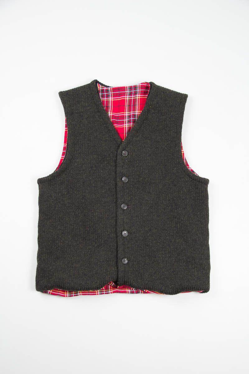 Dark Green Sweater Knit Combi Vest | Engineered Garments ...