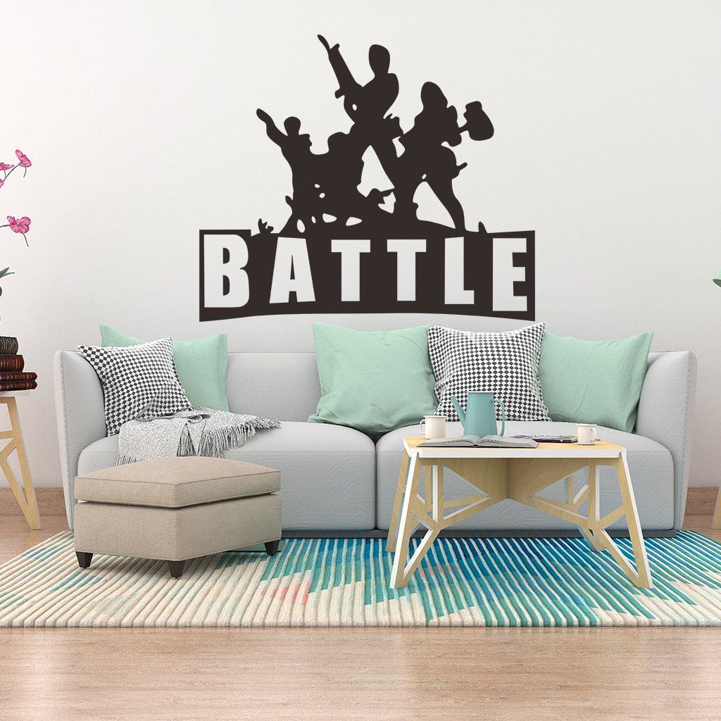 Fortnite Battle Royale Autocollant Murale Chambre Salon Bureau
