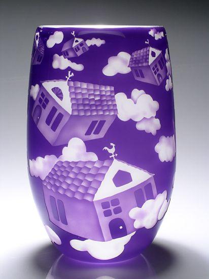 Cloud House: Mary Mullaney, Ralph Mossman: Art Glass Vase | Artful Home