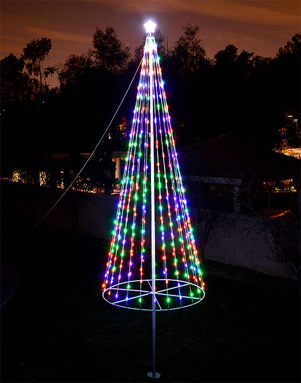 Flagpole Christmas Lights Flagpole Lighting Christmas Tree Kit Christmas Yard Decorations
