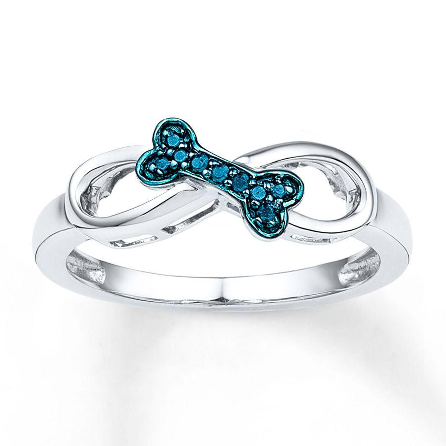 Artistry Diamonds Paw Print Ring 1/20 ct tw Diamonds Sterling Silver 6Ti8mWSH8