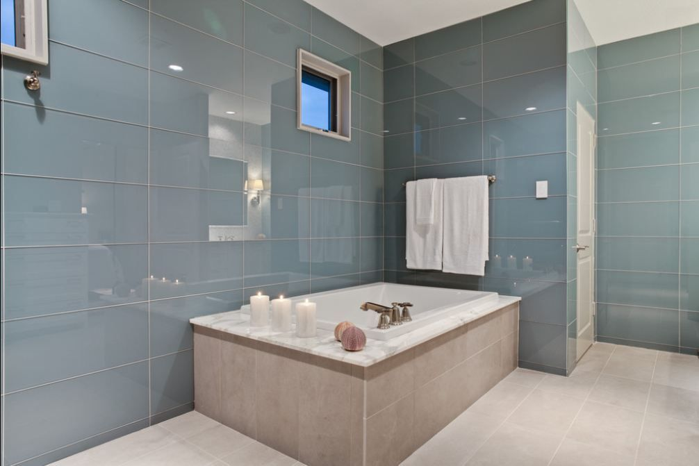 Large Field Tile Bathroom Trends With Latest Bathroom