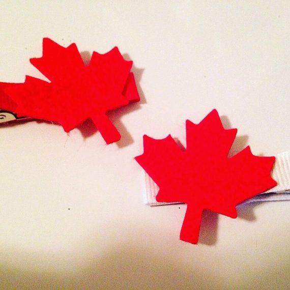 Hey, I found this really awesome Etsy listing at https://www.etsy.com/ca/listing/269977364/canada-day-hair-clip-maple-leaf