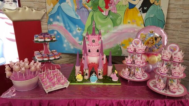 Princess castle sweet table