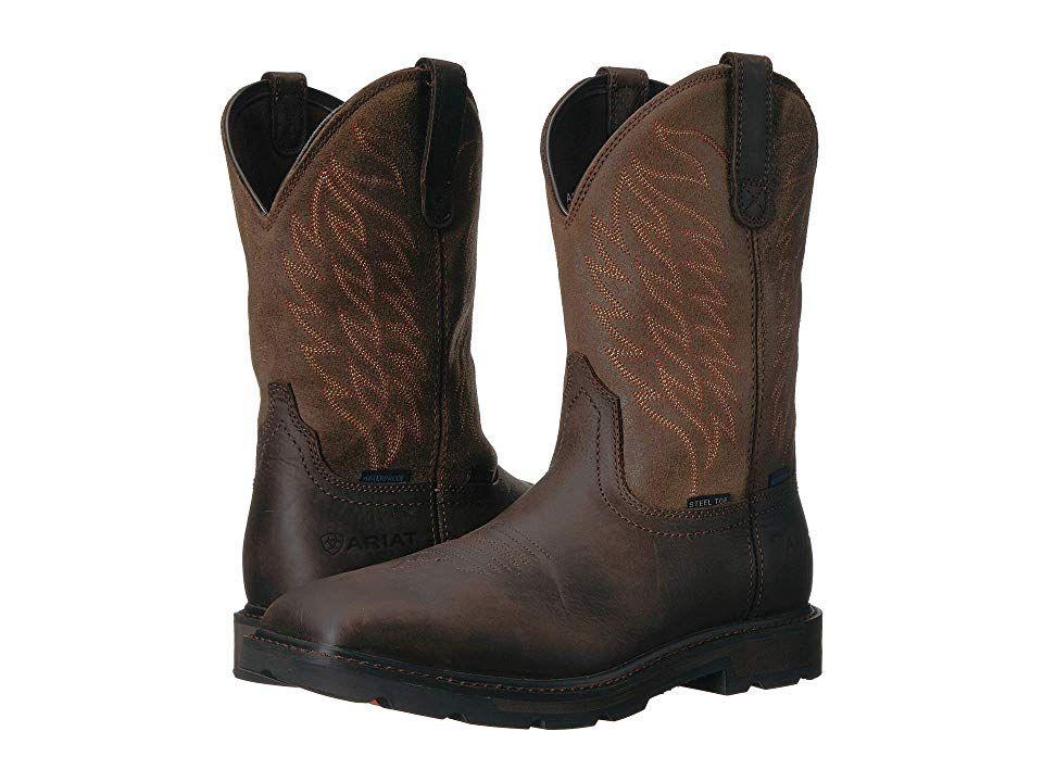 e9277405893 Ariat Groundbreaker Wide Square Toe H20 ST (Dark Brown) Cowboy Boots ...