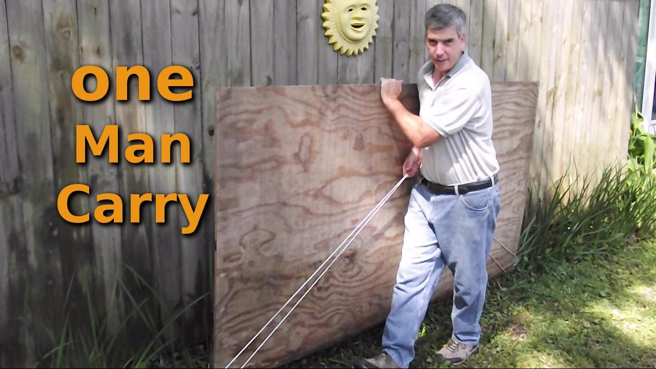 How To Easily Move Plywood By Yourself Wood Tips Tricks