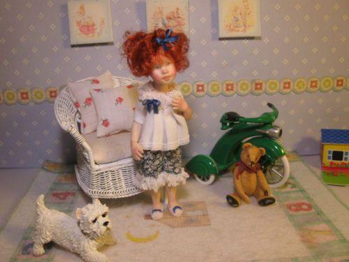 OOAK-Dollhouse-Miniature-Girl-Doll-Megan-by-Carol-McBride