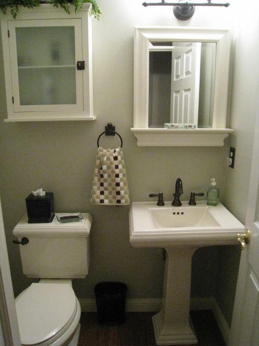 Half bath | Small space bathroom design, Bathroom designs ...