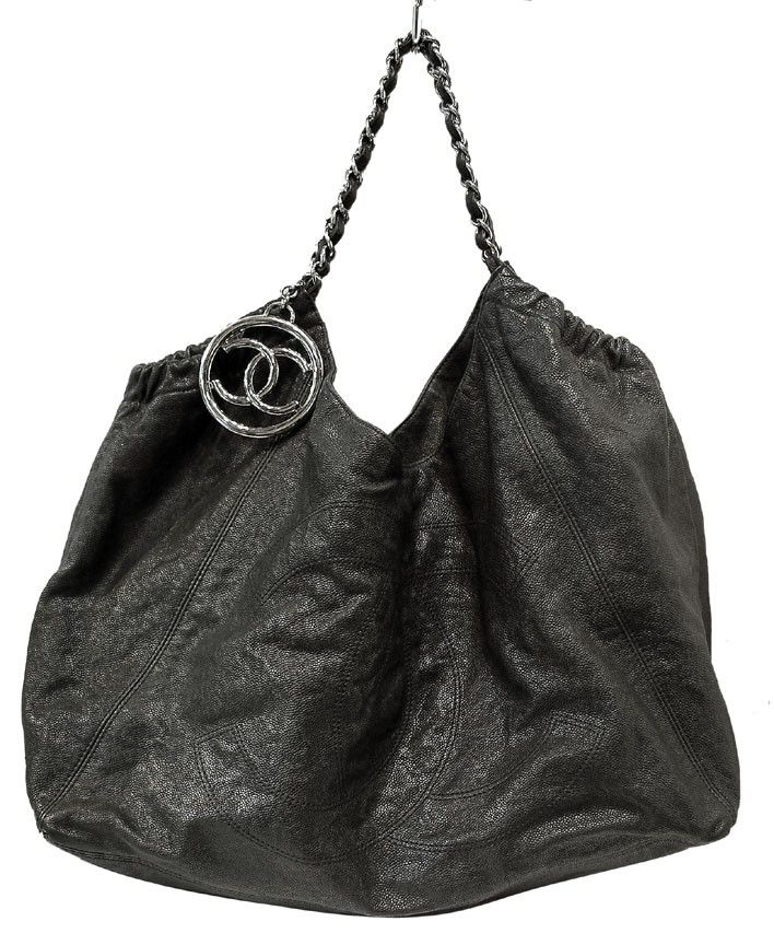 317469127a3a Chanel Black Leather Coco Cabas Charm Leather Hobo Tote Bag Review Buy Now