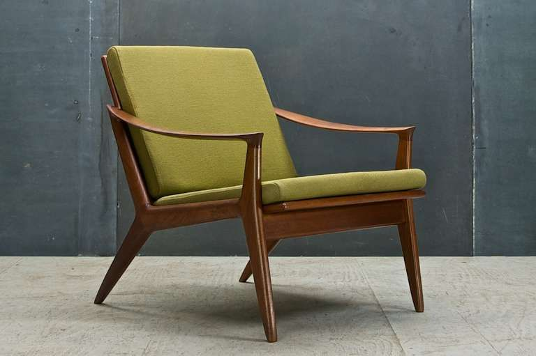 Rare Per Oie Scandinavian Mid Century Modern Easy Arm Lounge Chair