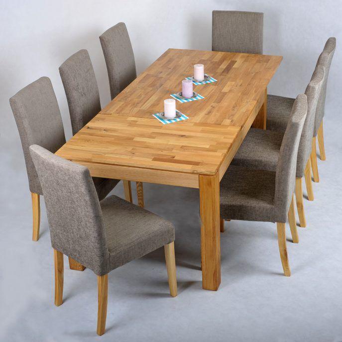 Fesselnd Solide Eiche Erweitern, Esstisch Und 6 Stühle Und