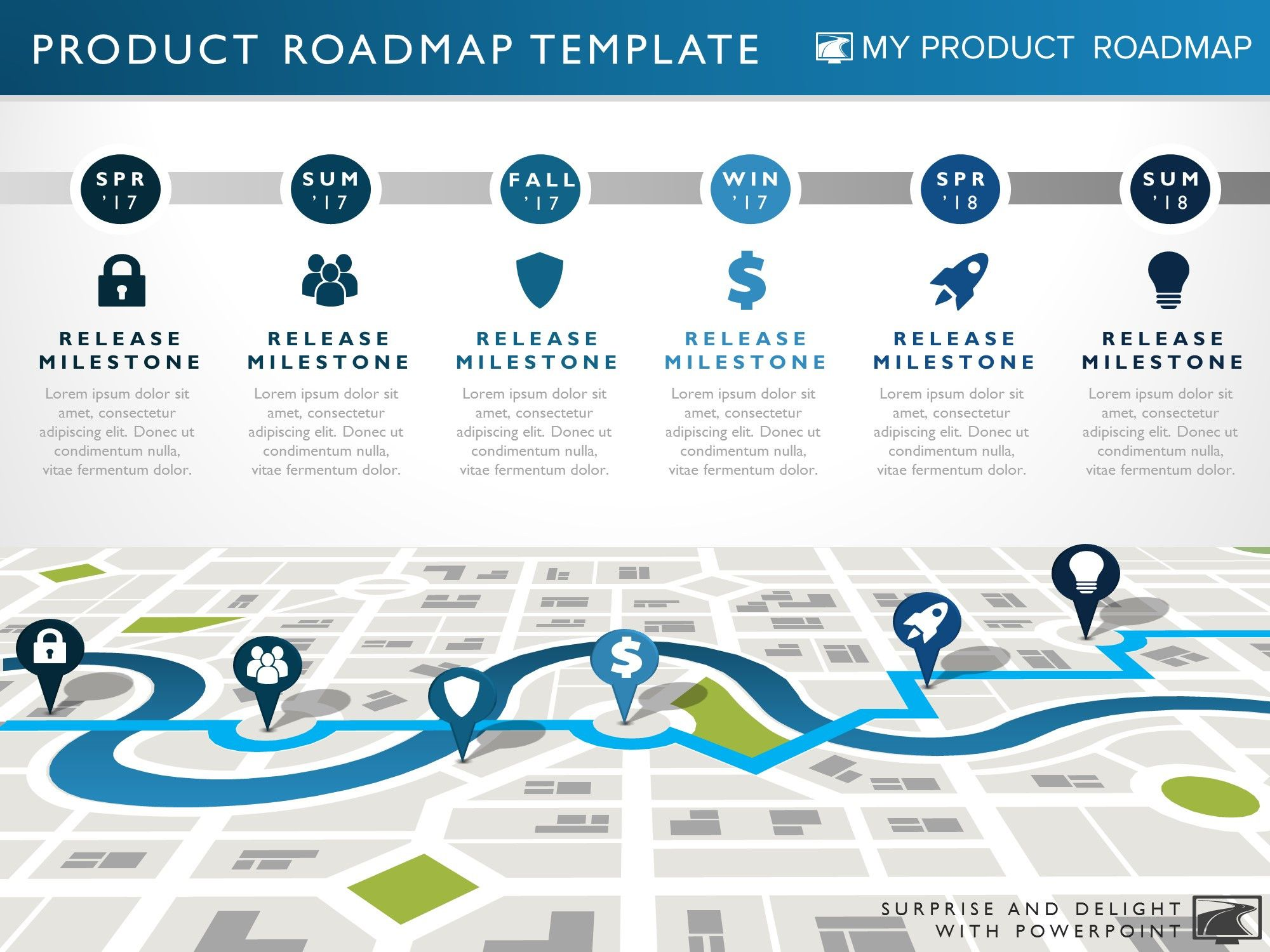Six phase technology strategy timeline roadmap for Startup milestone template