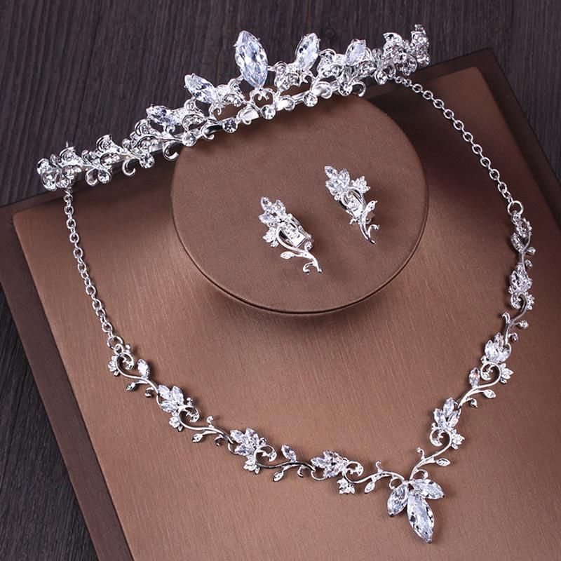 Brilliant Crystal Women Headwear Jewelry Set Necklace Earrings 2018 Silver Weddi... -  Brilliant Crystal Women Headwear Jewelry Set Necklace Earrings 2018 Silver Wedding Crowns Tiaras He - #brilliant #crystal #Earrings #headwear #jewelry #jewelryholder #jewelryorganization #jewelryset #Necklace #Set #Silver #Weddi #women #crowntiara