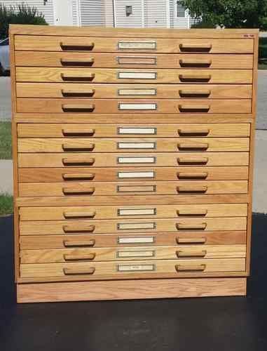 15 drawer stacor oak blueprint map artist drafting flat file storage 15 drawer stacor oak blueprint map artist drafting flat file storage cabinet malvernweather Images