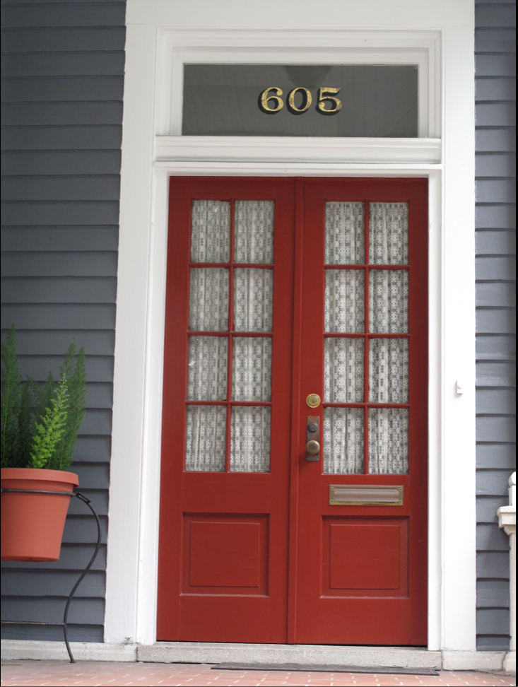 Scarlet Red Door House Exterior House Colors House Paint Exterior