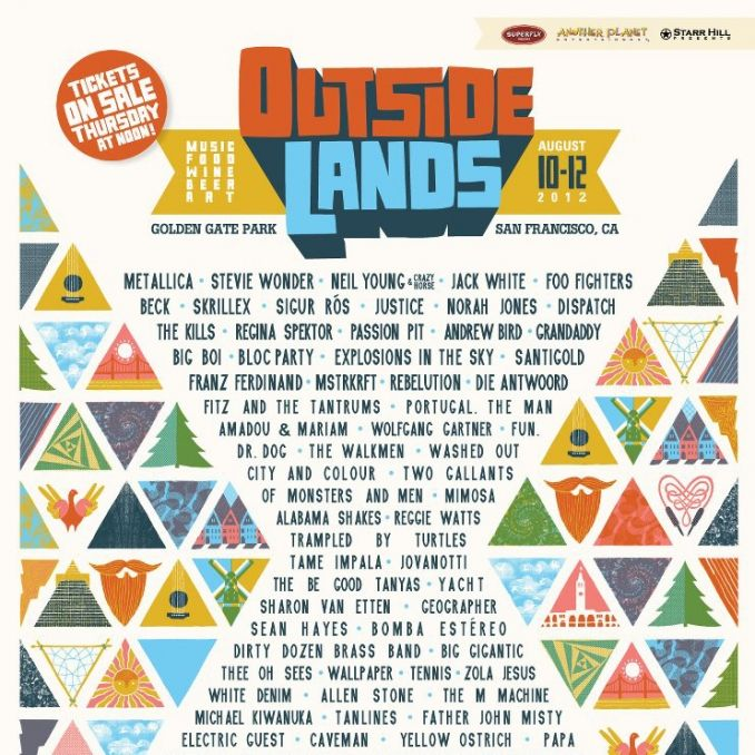 Music Festival Poster, Outside Lands