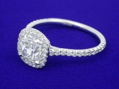 Cushion Diamond Engagement Ring With 102 Carat H Color And Vs1