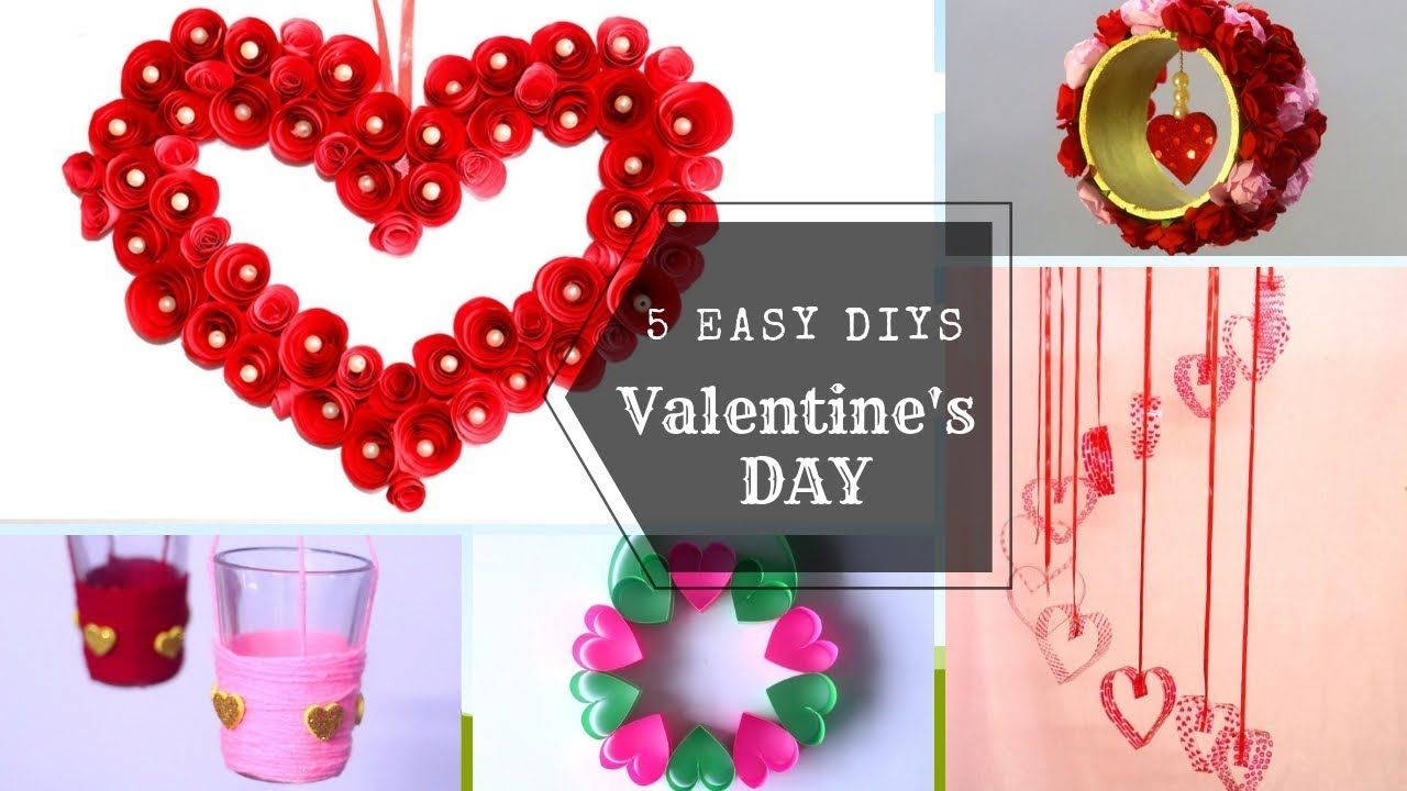 5 Easy Valentine S Day Diys Home Decor Ideas Easy Craft Ideas