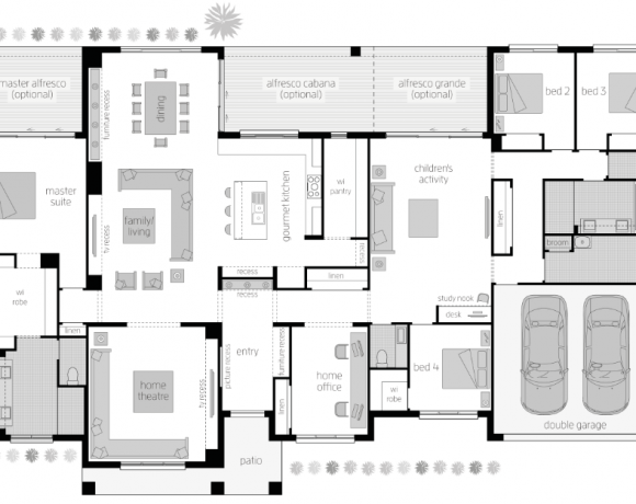 Floor Plan Friday Kids At The Back Parents At The Front House Plans Australia Floor Plans Dream House Plans