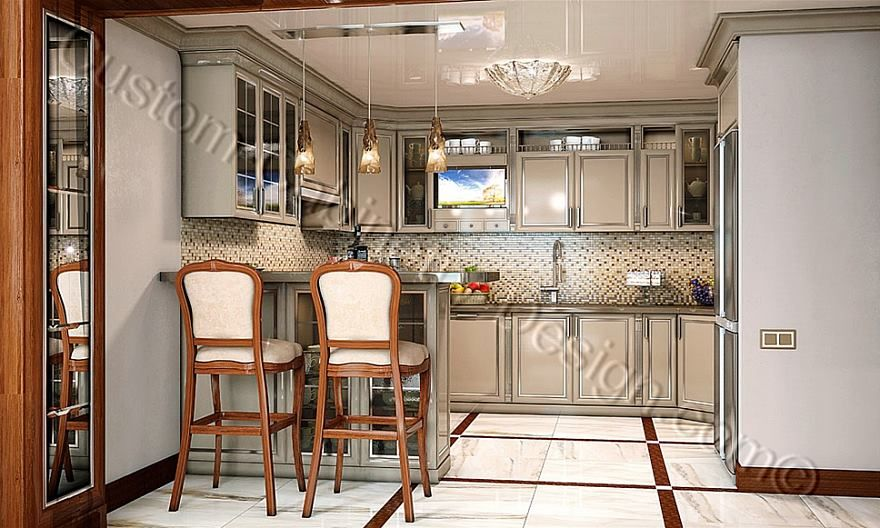 Small Kitchen Interior 3D Design  Kitchen 2  Pinterest  3D Classy Kitchen 3D Design 2018