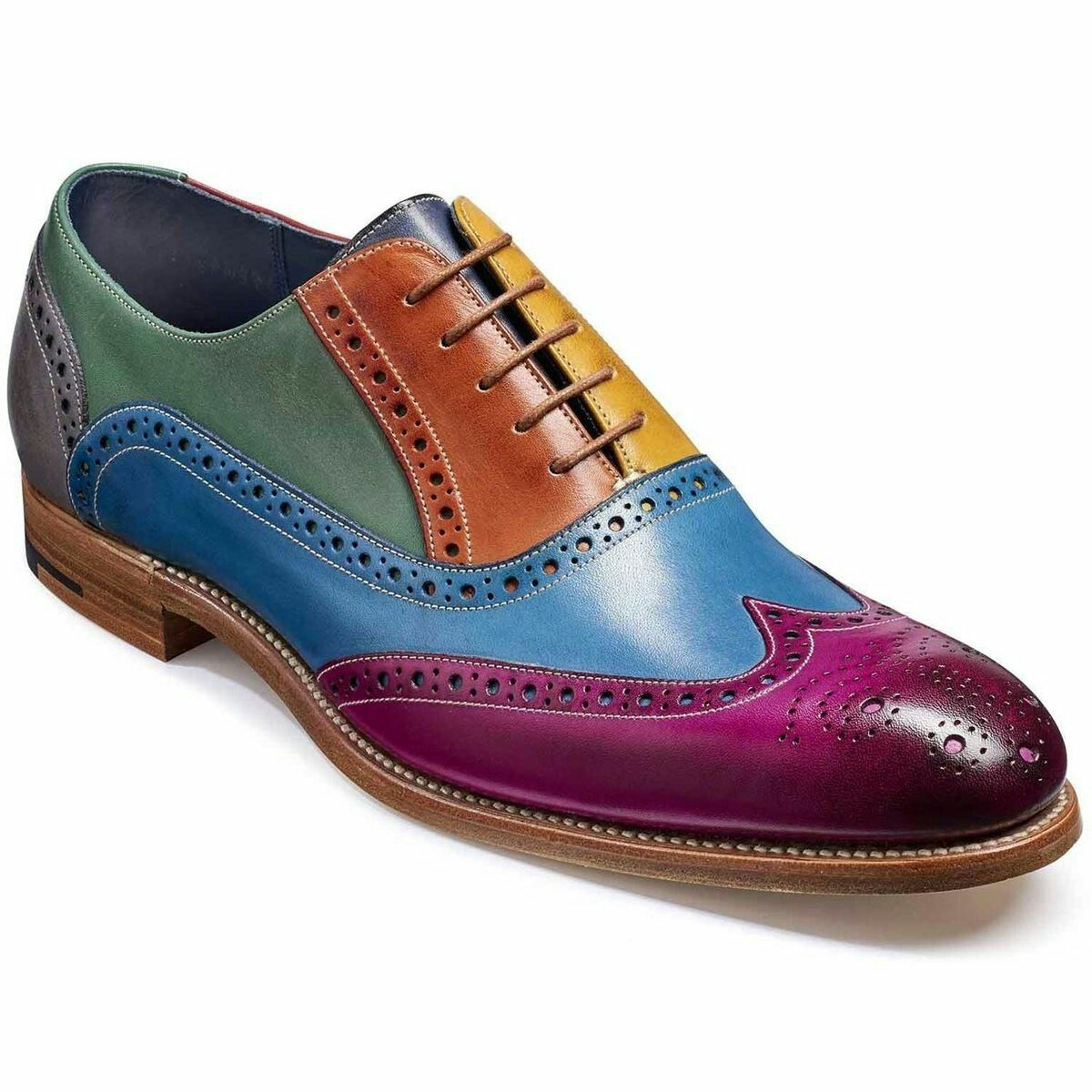 bfd0d33fb86e6 Men's Handmade Multi Color Leather shoes,Wingtip Multi Color dress ...