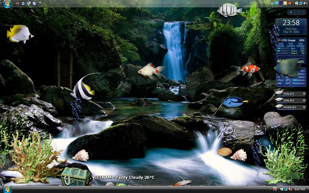 Wallpaper Aquarium 3d Bergerak