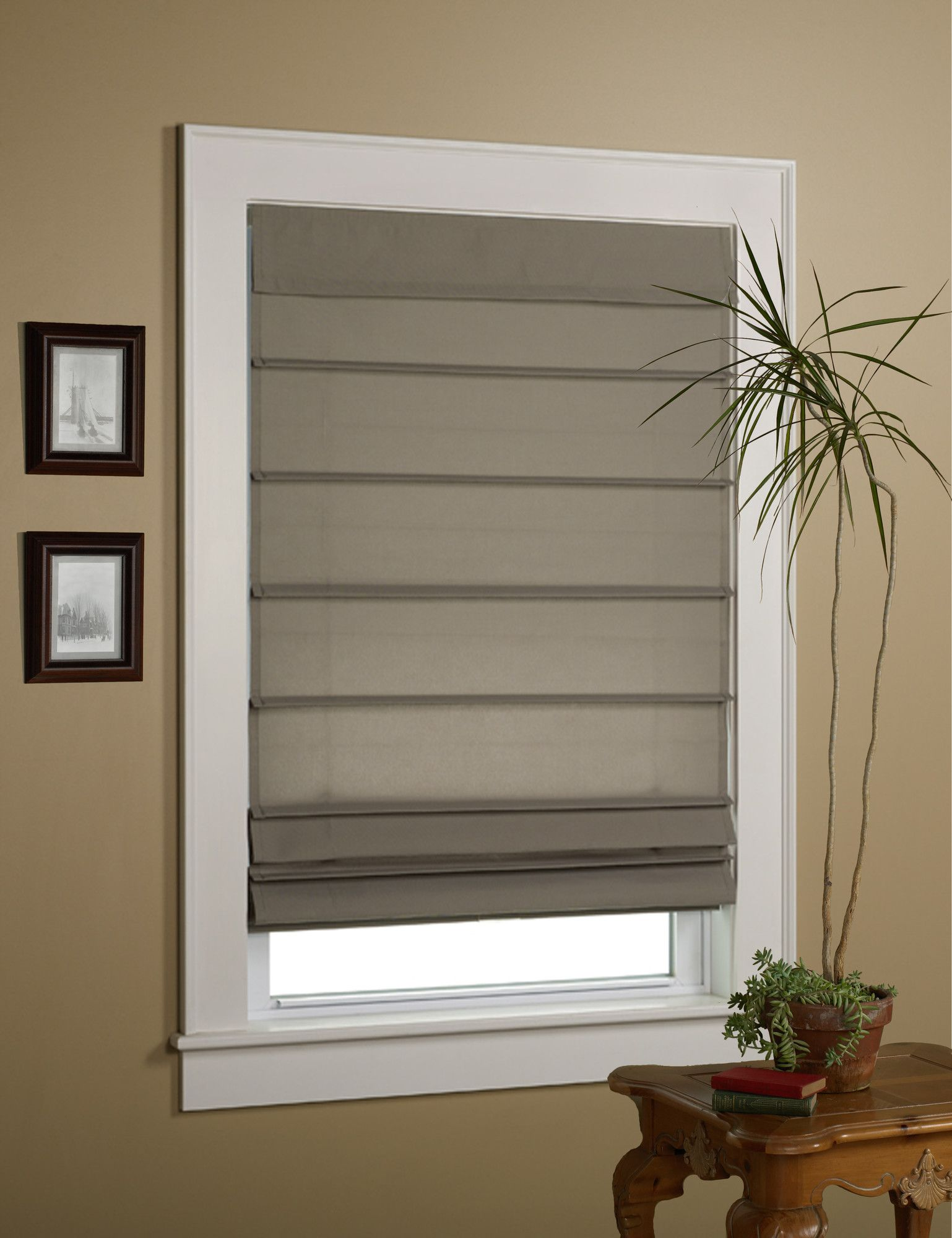 Energy Efficient Semi Sheer Roman Shade Window Shades Blinds
