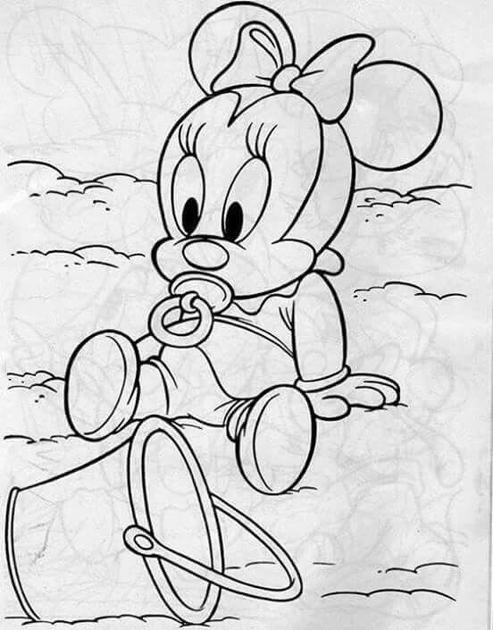 Minnie baby | pintura em tecido | Pinterest