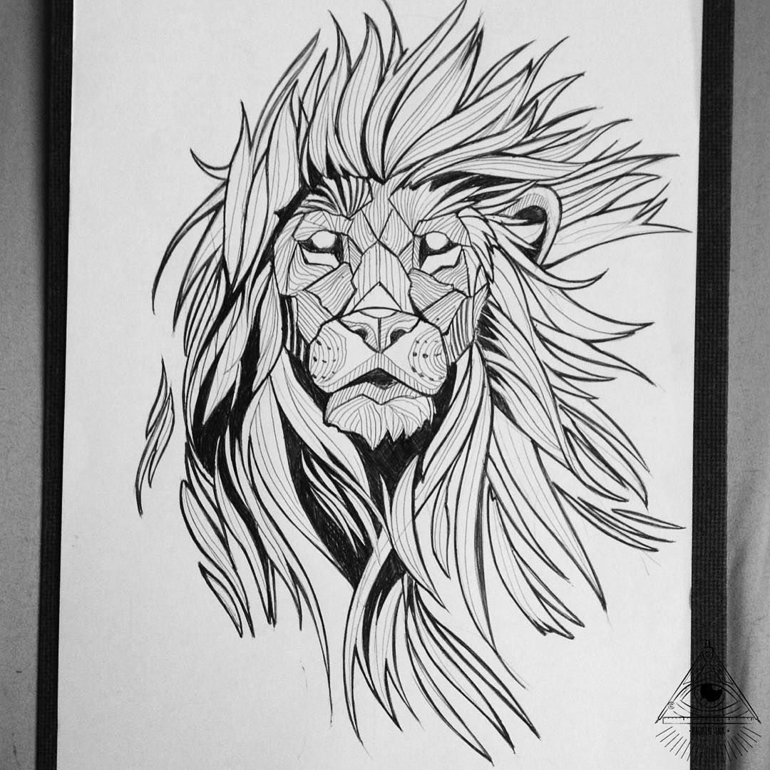 image result for geometric lion tattoo dreams pinterest