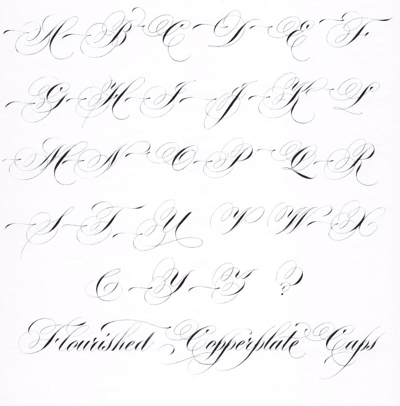 Hybrid Copperplate Script