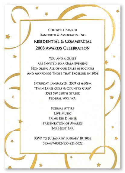 Blank Invitations Gold Stars Streamers 796 Reception Invitation Wording Reception Invitations Dinner Invitations