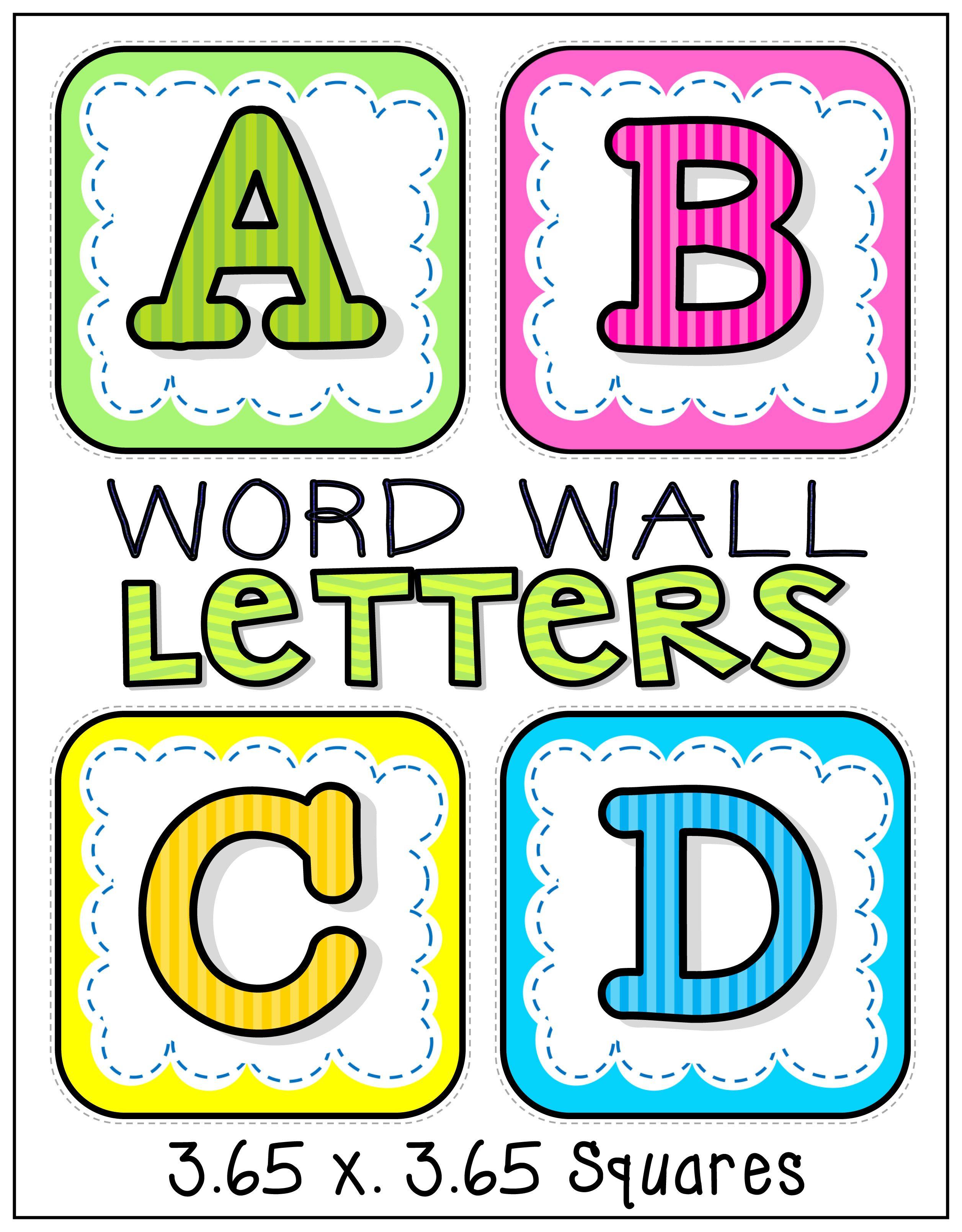 Word Wall Alphabet Letters | PHONICS | Pinterest | Word ...