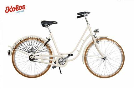 Dámsky mestský retro bicykel Kolos béžový