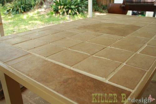 Make An Outdoor Tile Top Table For I Want This