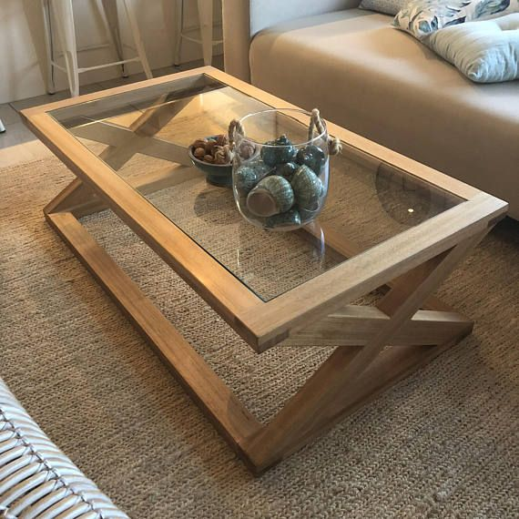 Table Basse En Verre Style De Hampton A La Main Sur La Sunshine Coast 1 2 X 60 X 42 Tasmanie Chene Delai D Coffee Table Tea Table Design Wood Table Design
