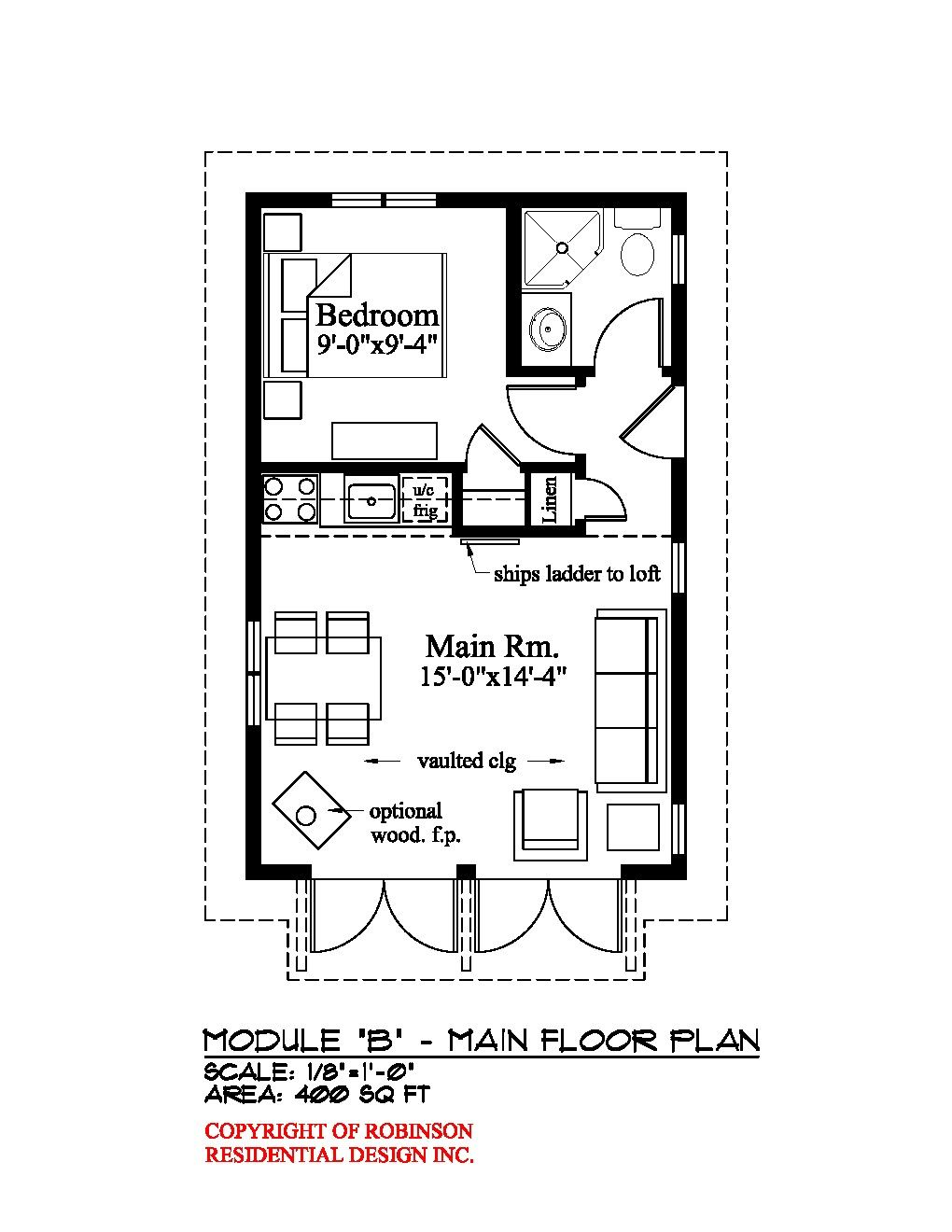Small house plan mother in law attached to garage for In law floor plans