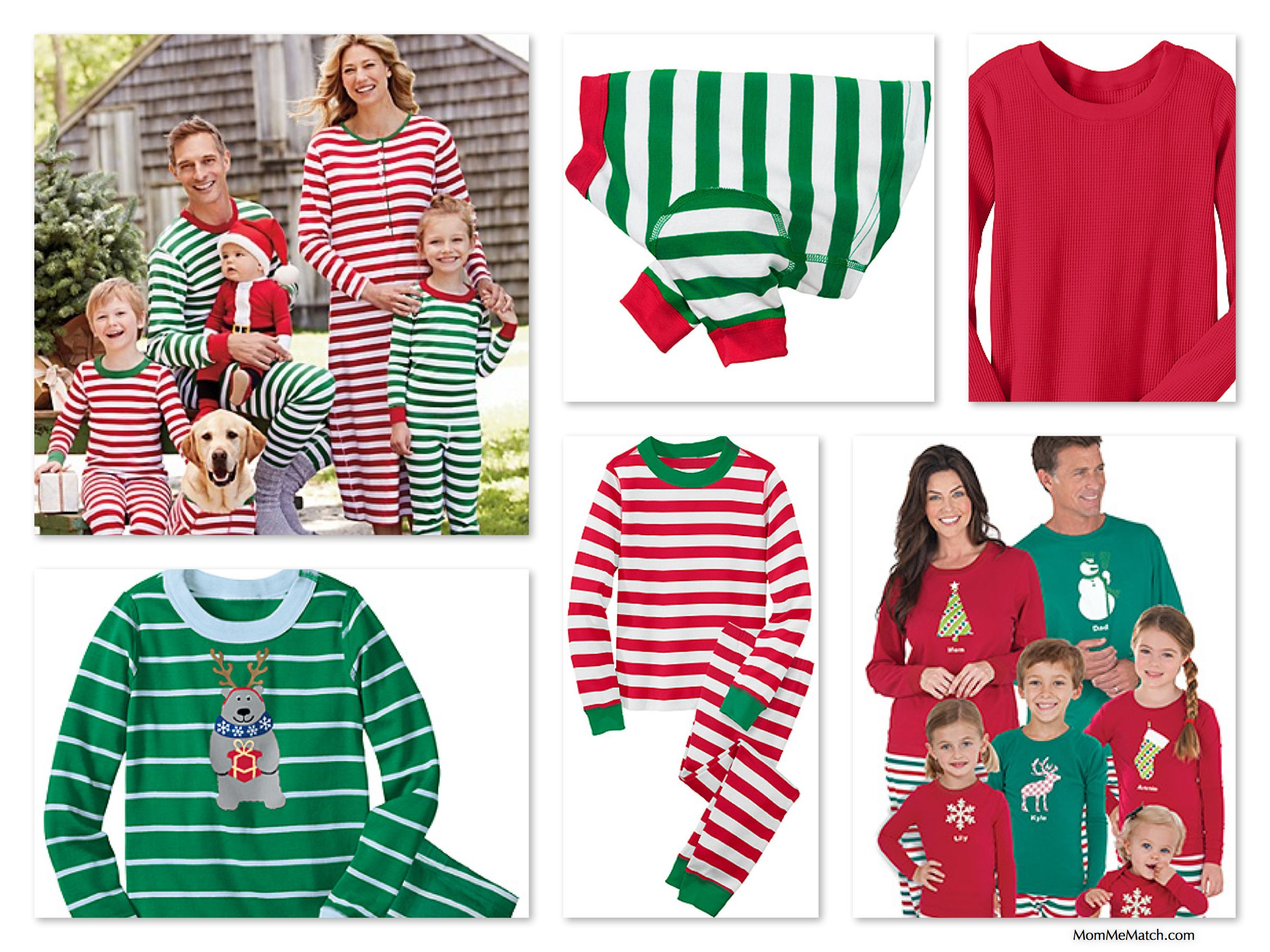 Red & Green Striped Family Christmas Pajamas like those featured ...
