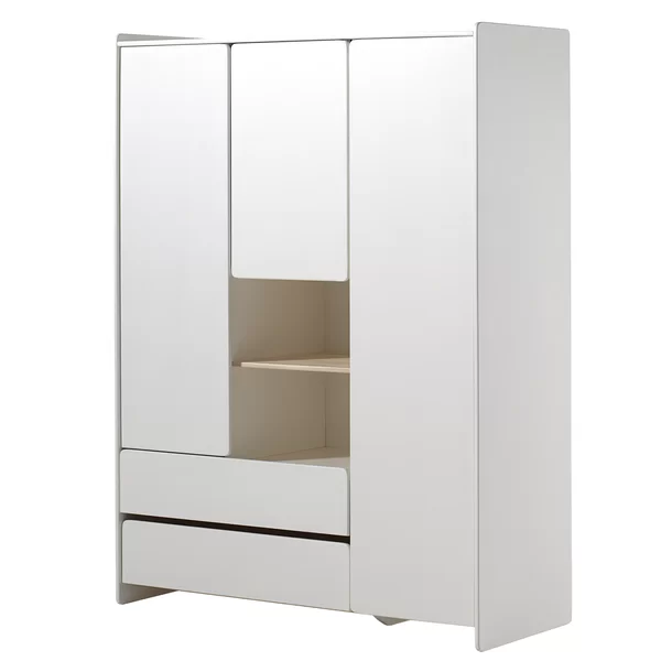 Eckert 3 Door Wardrobe 2 Door Wardrobe Locker Storage Adjustable Shelving