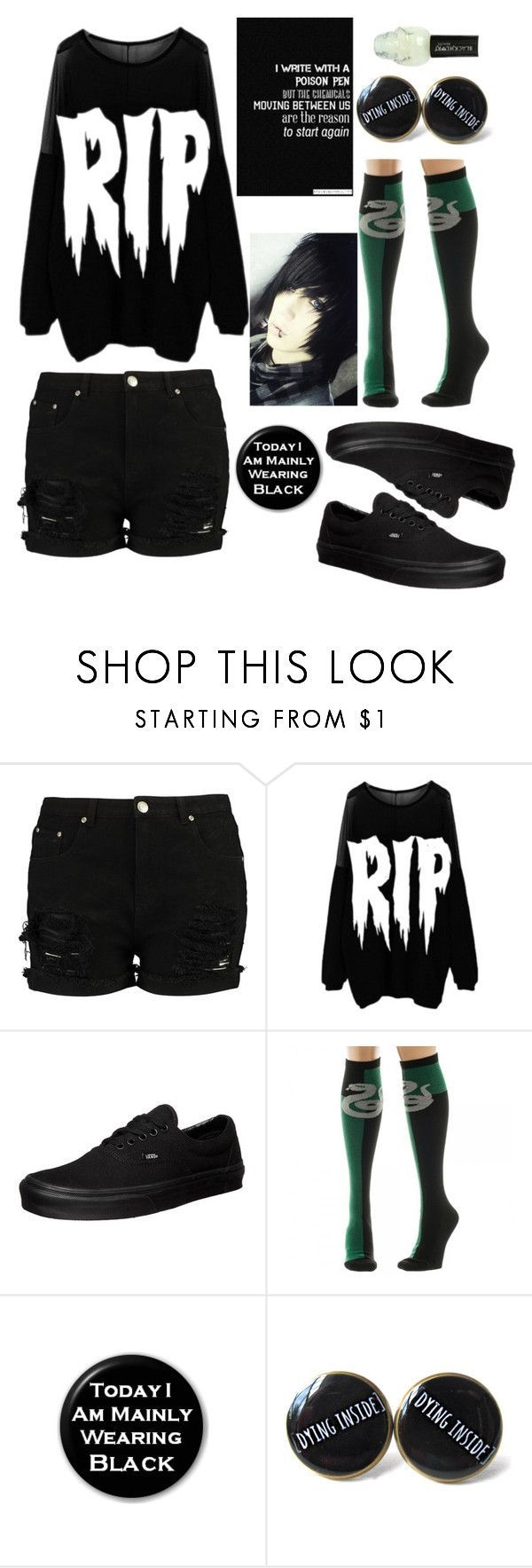 Untitled #663 by anjalenabvb on Polyvore featuring Nikki Lipstick, Vans and Hot Topic #hottopicclothes