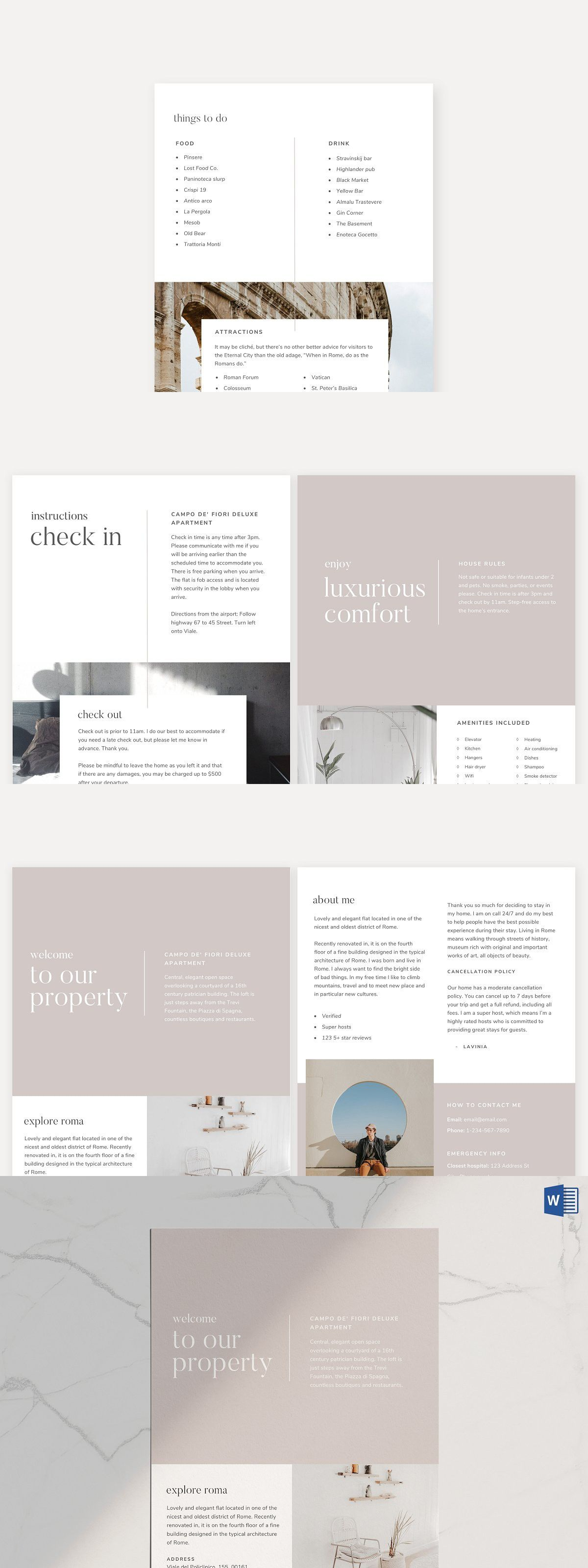 Airbnb Welcome Book Template Real Estate Flyers In 2019 Airbnb Design Airbnb House Rules