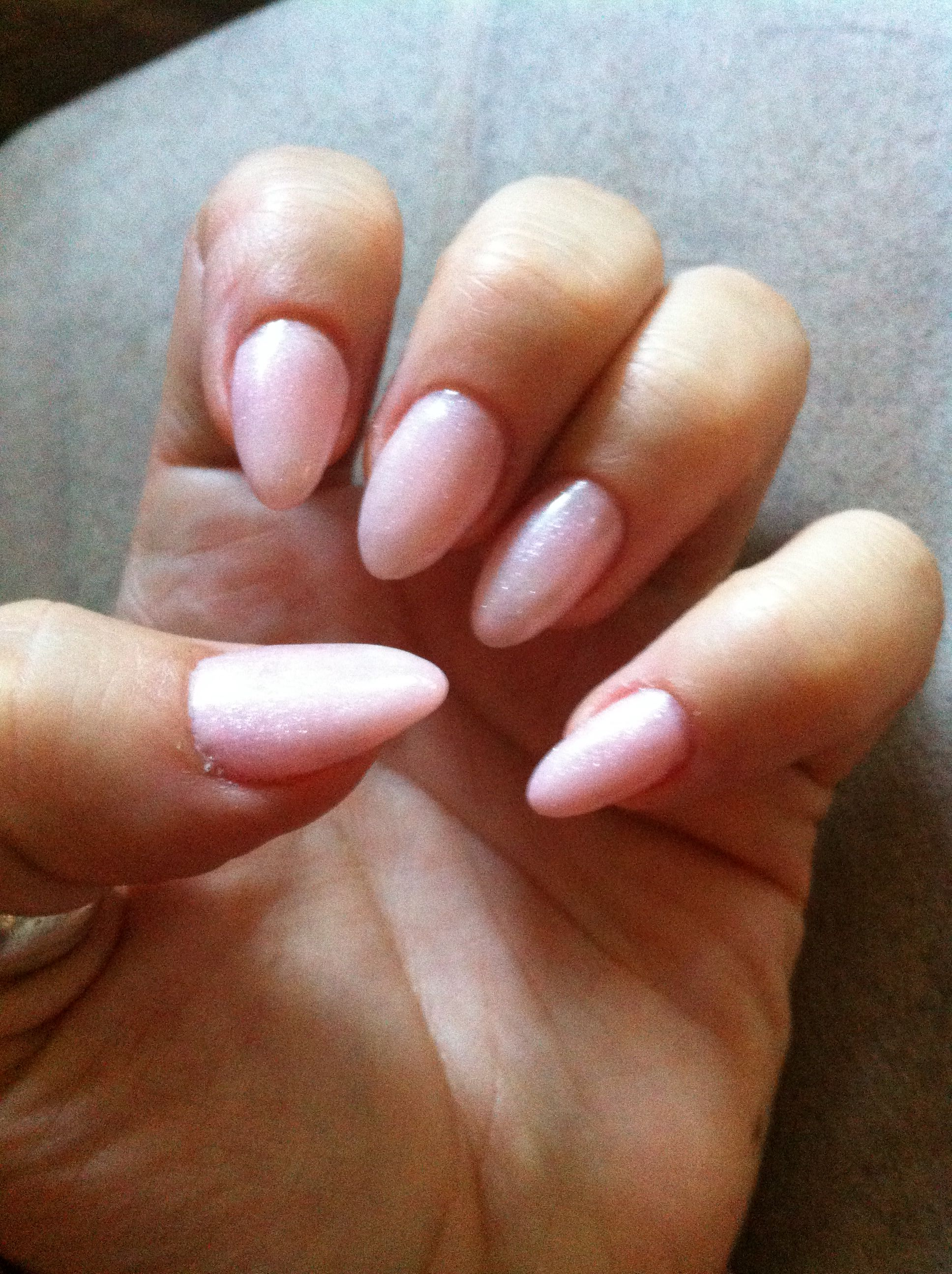 Light Pink Shimmer Gel Nails | Nails | Pinterest
